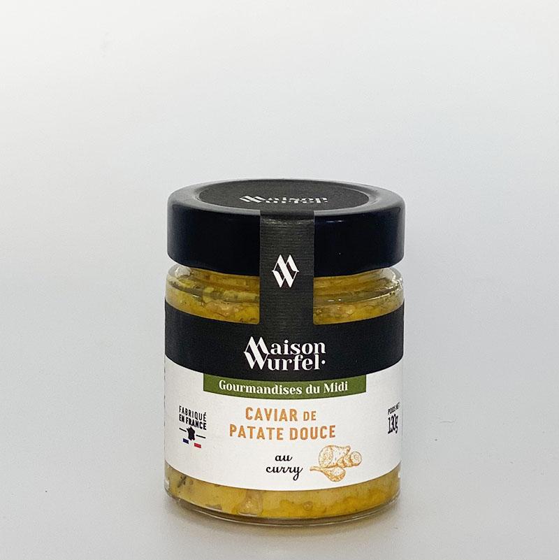 Caviar de Patate Douce au Curry